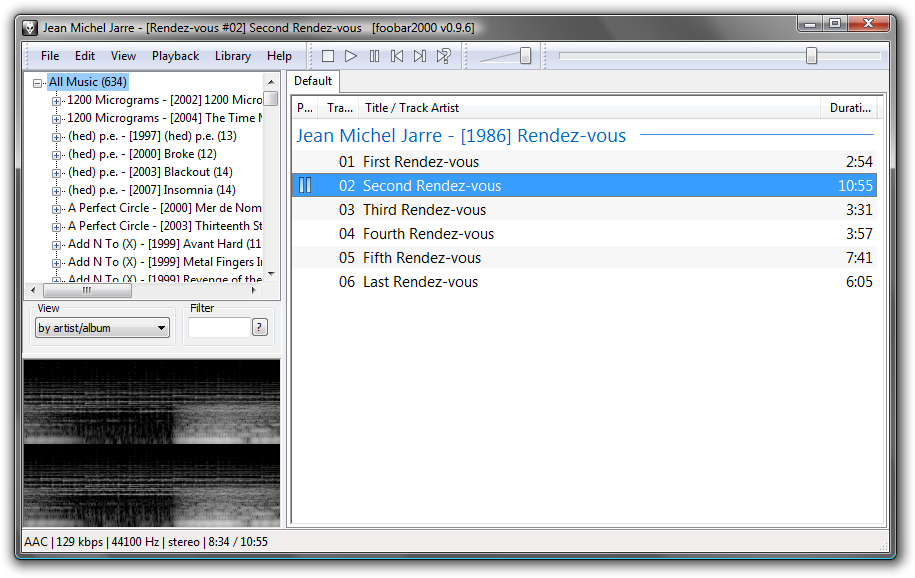 Portable foobar2000 0.9.6 screenshot