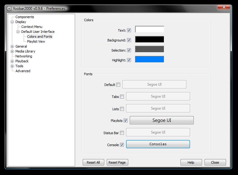 foobar2000: Screenshots