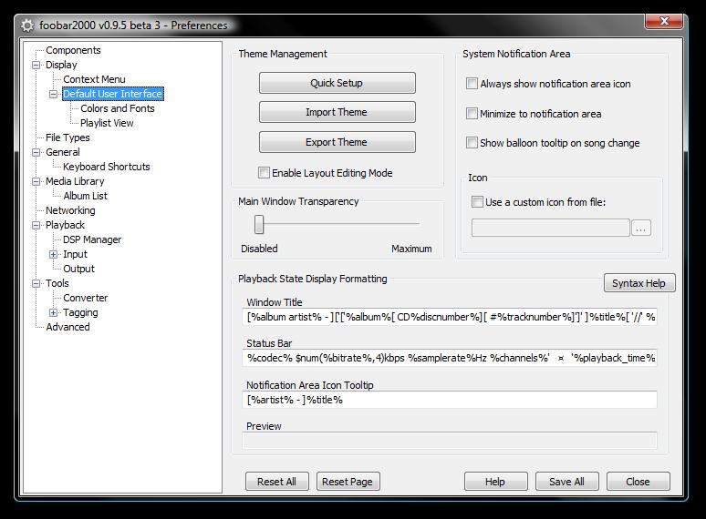 foobar2000 keyboard shortcuts